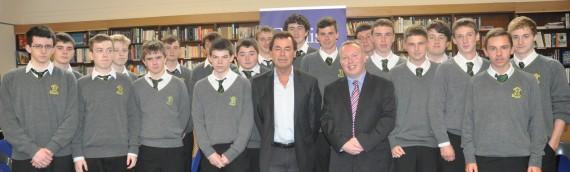 Minister Alan Shatter visits Coláiste Éanna.
